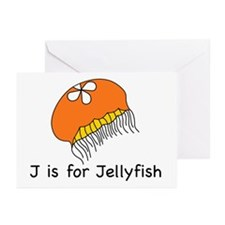 J is for Jellyfish Greeting Cards (Pk of 10)