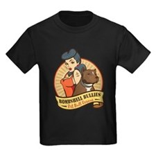 Large Pinup and dog logo NO SHADING T-Shirt