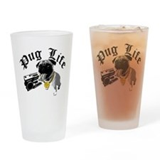 Pug Life Drinking Glass