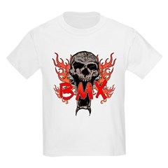 BMX skull 2 Kids Light T-Shirt