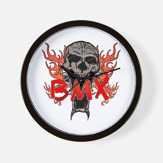 BMX skull 2 Wall Clock