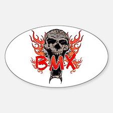 BMX skull 2 Sticker (Oval)