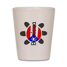 Boricua Taino Symbol Shot Glass