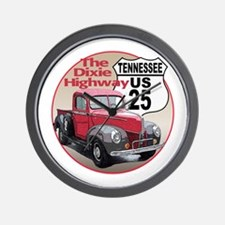 Cute Ford truck route 66 Wall Clock