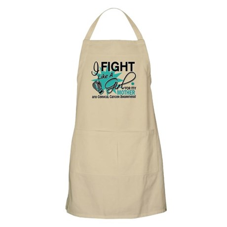 Fight Like A Girl For My Cervical Cancer Apron