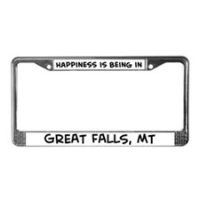 Happiness is Great Falls License Plate Frame