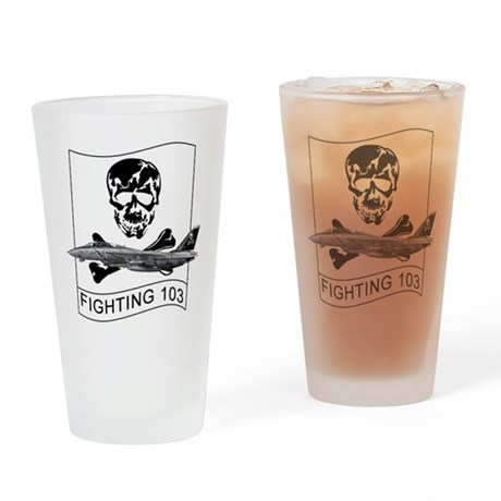Vf-103 Jolly Rogers Drinking Glass