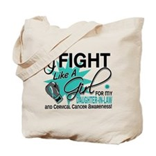 Fight Like A Girl For My Cervical Cancer Tote Bag