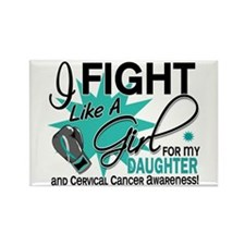 Fight Like A Girl For My Cervical Cancer Rectangle