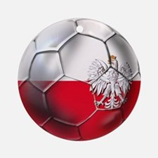 Poland Football Round Ornament