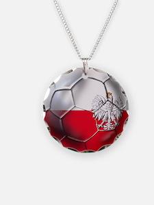 Poland Football Necklace