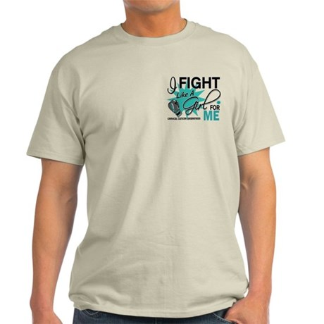 Fight Like A Girl For My Cervical Cancer Light T-S