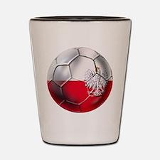 Poland Football Shot Glass