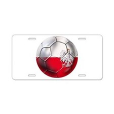 Polish Eagle Football Aluminum License Plate