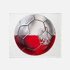 Poland Football Throw Blanket