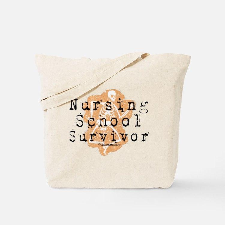 Nursing School Survivor Tote Bag