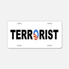 Obama-Terrorist Aluminum License Plate