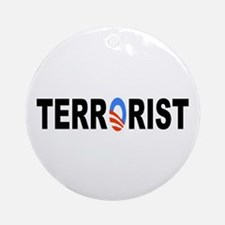 Obama-Terrorist Ornament (Round)