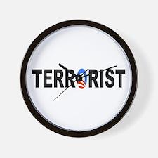 Obama-Terrorist Wall Clock
