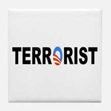 Obama-Terrorist Tile Coaster