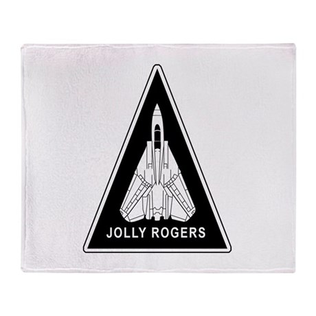 Vf-103 Jolly Rogers Throw Blanket