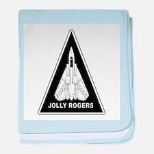 Vf-103 Jolly Rogers baby blanket