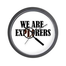'We Are Explorers' Wall Clock
