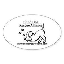Unique Blind dog rescue alliance Decal