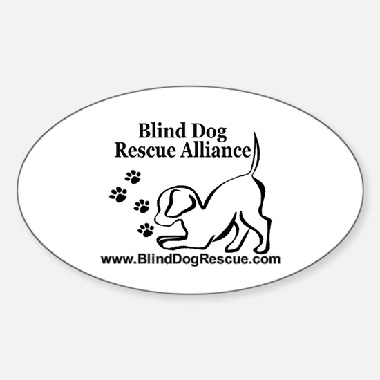 Cool Blind animals Sticker (Oval)