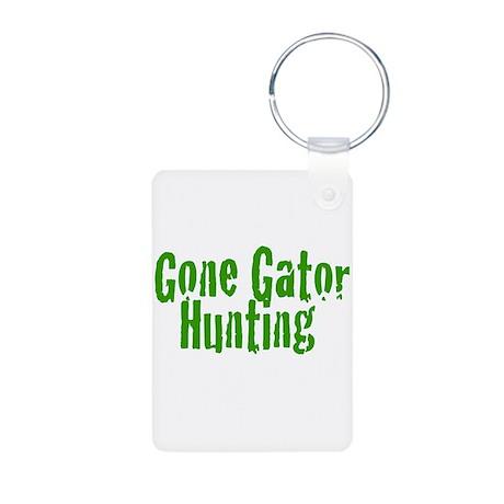 Gone Gator Hunting Aluminum Photo Keychain