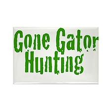 Gone Gator Hunting Rectangle Magnet
