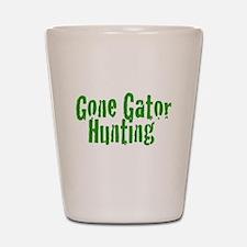 Gone Gator Hunting Shot Glass
