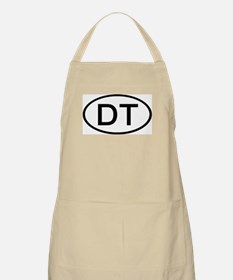 DT - Initial Oval BBQ Apron