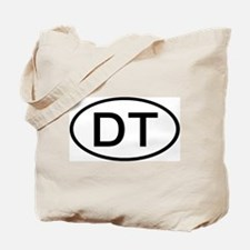 DT - Initial Oval Tote Bag