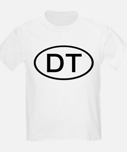 DT - Initial Oval Kids T-Shirt