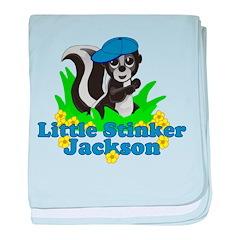 Little Stinker Jackson baby blanket