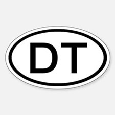 DT - Initial Oval Oval Decal