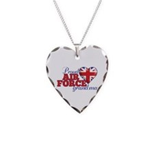 Proud Air Force Grandma - Necklace Heart Charm