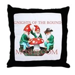 Gnome Gnights Throw Pillow