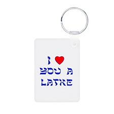 I Love You a Latke Keychains
