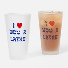 I Love You a Latke Drinking Glass