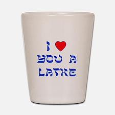I Love You a Latke Shot Glass