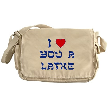 I Love You a Latke Messenger Bag