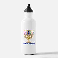 Hannukah Menorah Water Bottle