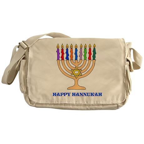 Hannukah Menorah Messenger Bag