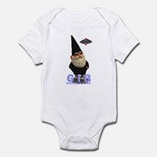 Gnomes in Black Infant Creeper