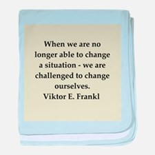 Viktor Frankl quote baby blanket