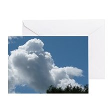 Poodle in Clouds? Greeting Card