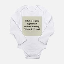 Viktor Frankl quote Long Sleeve Infant Bodysuit
