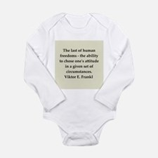 Wilhelm Reich quotes Long Sleeve Infant Bodysuit